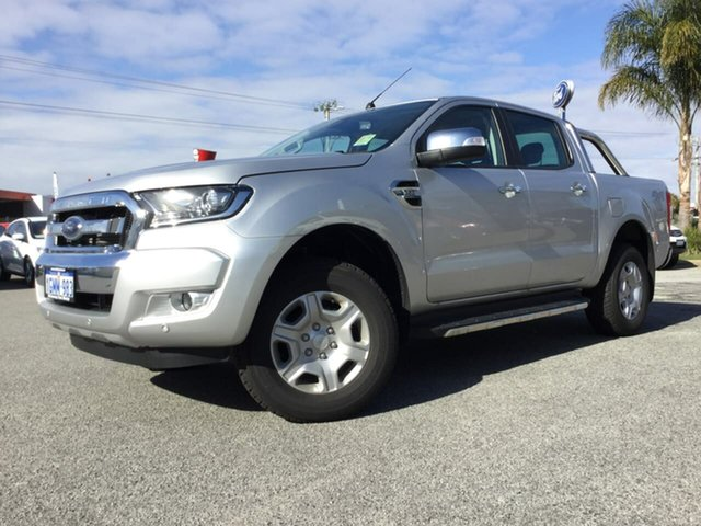 Demo Ford Ranger PX MkII 2018.00MY XLT Double Cab, 2018 Ford Ranger PX MkII 2018.00MY XLT Double Cab Ingot Silver 6 Speed Sports Automatic Utility
