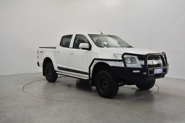 Used Holden Colorado RG MY15 LS Crew Cab, 2014 Holden Colorado RG MY15 LS Crew Cab White 6 Speed Manual Utility
