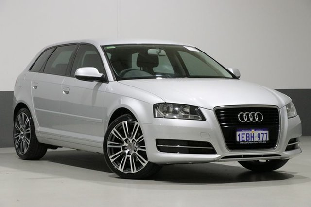 Used Audi A3 8P MY12 Sportback 1.4 TFSI Attraction, 2012 Audi A3 8P MY12 Sportback 1.4 TFSI Attraction Silver 7 Speed Auto Direct Shift Hatchback