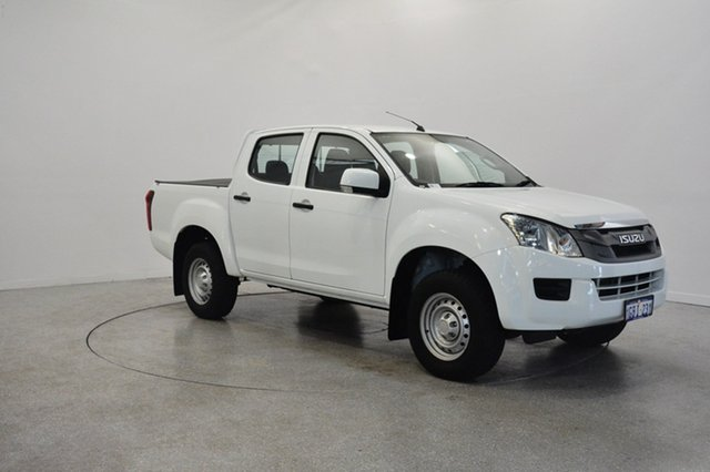 Used Isuzu D-MAX MY15 SX Crew Cab High Ride, 2016 Isuzu D-MAX MY15 SX Crew Cab High Ride White 5 Speed Sports Automatic Cab Chassis