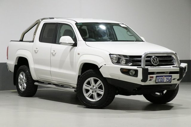Used Volkswagen Amarok 2H MY14 TDI400 Highline (4x4), 2014 Volkswagen Amarok 2H MY14 TDI400 Highline (4x4) White 6 Speed Manual Dual Cab Utility
