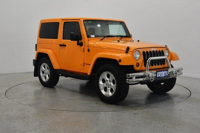 Used Jeep Wrangler JK MY2013 Overland, 2013 Jeep Wrangler JK MY2013 Overland Orange 5 Speed Automatic Hardtop