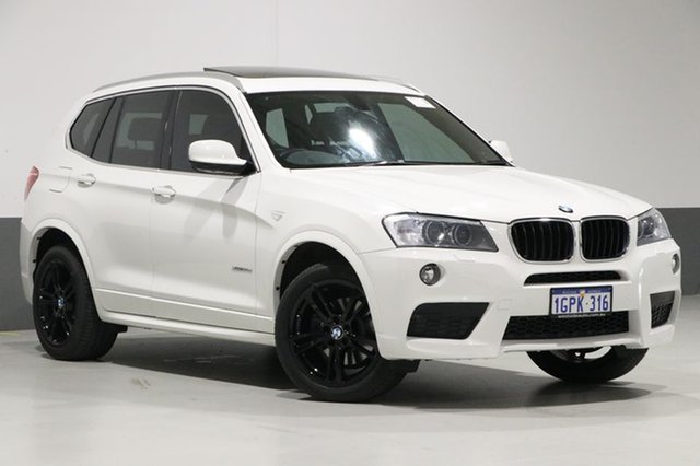 Used BMW X3 F25 MY13 xDrive 20D, 2013 BMW X3 F25 MY13 xDrive 20D White 8 Speed Automatic Wagon