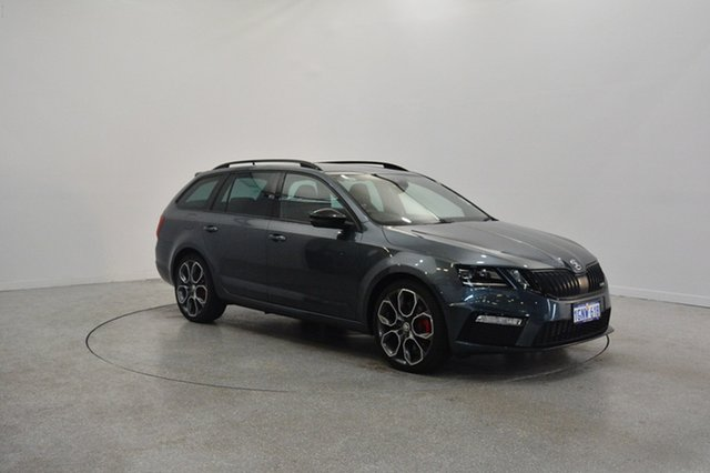 Used Skoda Octavia NE MY18 RS DSG 245, 2017 Skoda Octavia NE MY18 RS DSG 245 Quartz Grey 7 Speed Sports Automatic Dual Clutch Wagon