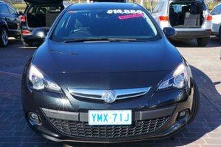 2015 Holden Astra PJ MY16 GTC Black 6 Speed Manual Hatchback.