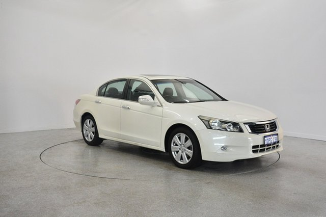 Used Honda Accord 8th Gen MY11 V6 Luxury, 2011 Honda Accord 8th Gen MY11 V6 Luxury White 5 Speed Sports Automatic Sedan