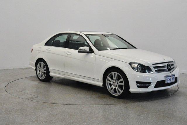 Used Mercedes-Benz C250 W204 MY13 Elegance 7G-Tronic +, 2013 Mercedes-Benz C250 W204 MY13 Elegance 7G-Tronic + White 7 Speed Sports Automatic Sedan