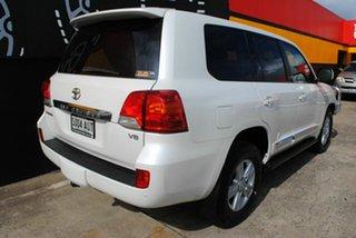 2012 Toyota Landcruiser VDJ200R MY12 Sahara Pearl White 6 Speed Sports Automatic Wagon.