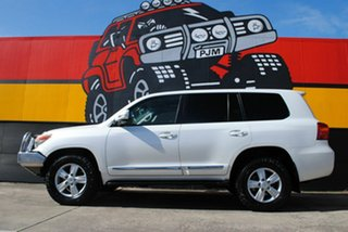 2012 Toyota Landcruiser VDJ200R MY12 Sahara Pearl White 6 Speed Sports Automatic Wagon