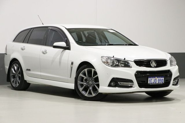 Used Holden Commodore VF SS-V, 2013 Holden Commodore VF SS-V White 6 Speed Automatic Sportswagon