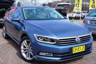 2016 Volkswagen Passat 3C (B8) MY16 140TDI DSG Highline Blue 6 Speed Sports Automatic Dual Clutch.