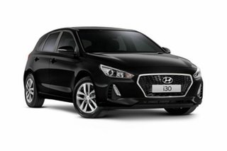 2018 Hyundai i30 PD MY18 Active Phantom Black Pearl 6 Speed Sports Automatic Hatchback.