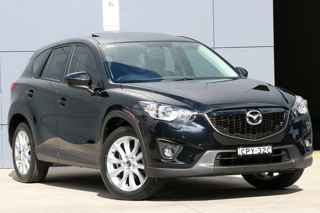 Used Mazda CX-5 KE1031 MY14 Grand Touring SKYACTIV-Drive AWD, 2013 Mazda CX-5 KE1031 MY14 Grand Touring SKYACTIV-Drive AWD Black 6 Speed Sports Automatic Wagon