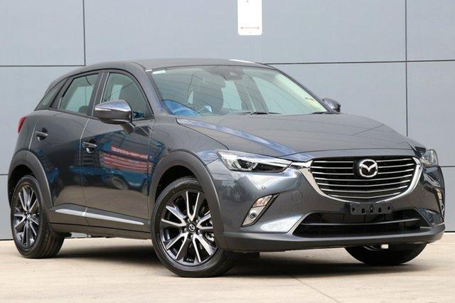 New Mazda CX-3 DK4W7A Akari SKYACTIV-Drive i-ACTIV AWD, 2018 Mazda CX-3 DK4W7A Akari SKYACTIV-Drive i-ACTIV AWD Meteor Grey 6 Speed Sports Automatic Wagon