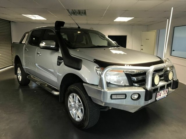 Used Ford Ranger PX XLT Double Cab, 2014 Ford Ranger PX XLT Double Cab Silver 6 Speed Automatic Utility