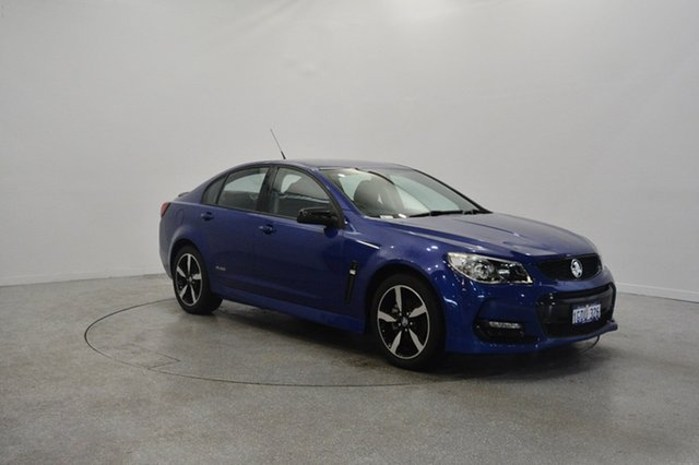 Used Holden Commodore VF II MY16 SV6 Black, 2016 Holden Commodore VF II MY16 SV6 Black Blue 6 Speed Sports Automatic Sedan
