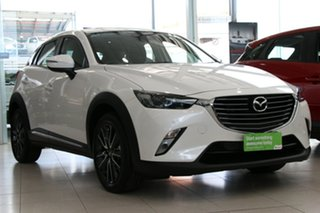 2018 Mazda CX-3 DK2W7A Akari SKYACTIV-Drive Snowflake White 6 Speed Sports Automatic Wagon.
