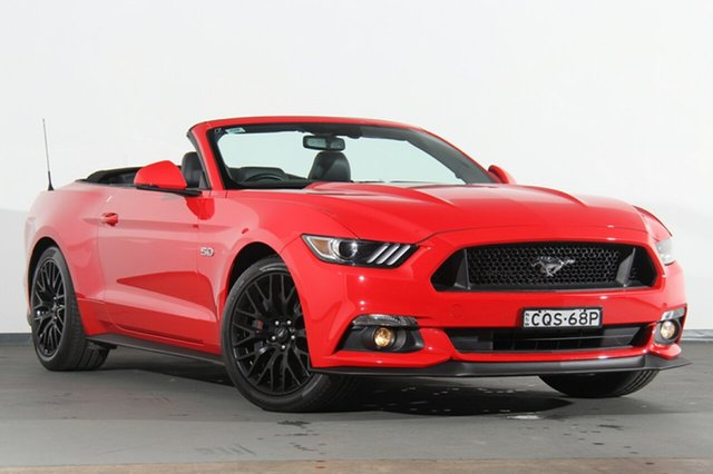 Used Ford Mustang FM GT SelectShift, 2016 Ford Mustang FM GT SelectShift Red 6 Speed Sports Automatic Convertible