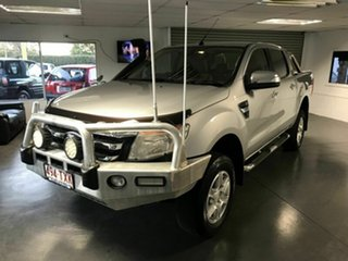 2014 Ford Ranger PX XLT Double Cab Silver 6 Speed Automatic Utility.