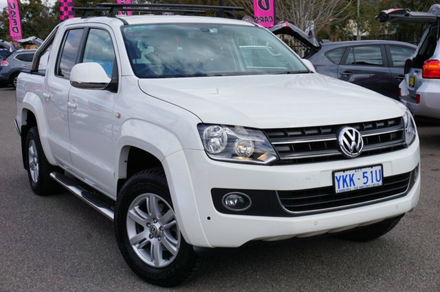 Used Volkswagen Amarok 2H MY14 TDI400 4Mot Highline, 2014 Volkswagen Amarok 2H MY14 TDI400 4Mot Highline Candy White 6 Speed Manual Utility