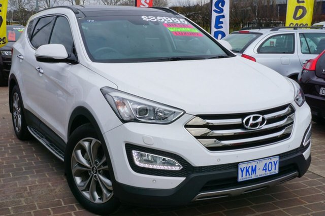 Used Hyundai Santa Fe DM2 MY15 Highlander, 2015 Hyundai Santa Fe DM2 MY15 Highlander White 6 Speed Sports Automatic Wagon