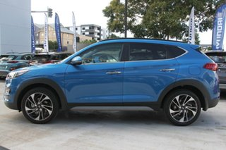 2019 Hyundai Tucson TL3 MY19 Highlander AWD Aqua Blue 8 Speed Sports Automatic Wagon