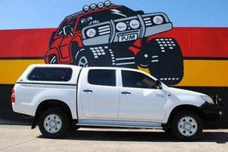 2013 Toyota Hilux KUN26R MY12 SR Double Cab Glacier White 4 Speed Automatic Utility.