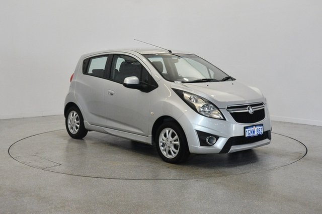 Used Holden Barina Spark MJ MY13 CD, 2013 Holden Barina Spark MJ MY13 CD Silver 4 Speed Automatic Hatchback