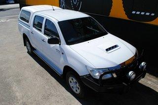 2013 Toyota Hilux KUN26R MY12 SR Double Cab Glacier White 4 Speed Automatic Utility