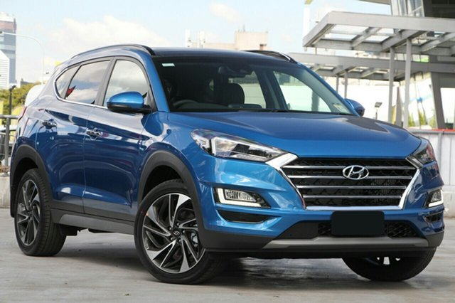 New Hyundai Tucson TL3 MY21 Highlander D-CT AWD Burnie, 2020 Hyundai Tucson TL3 MY21 Highlander D-CT AWD Aqua Blue 7 Speed Sports Automatic Dual Clutch