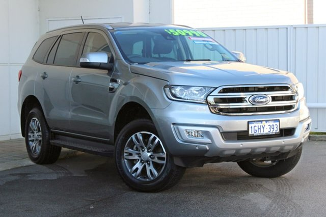 Demo Ford Everest UA Trend 4WD, 2017 Ford Everest UA Trend 4WD Silver 6 Speed Sports Automatic Wagon