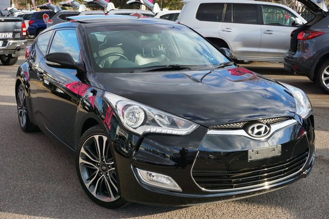 Used Hyundai Veloster FS4 Series II + Coupe, 2015 Hyundai Veloster FS4 Series II + Coupe Black 6 Speed Manual Hatchback