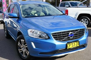 2014 Volvo XC60 DZ MY14 D4 Geartronic Kinetic Blue 8 Speed Sports Automatic Wagon.