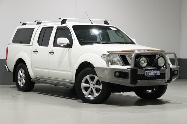 Used Nissan Navara D40 ST (4x4), 2012 Nissan Navara D40 ST (4x4) White 6 Speed Manual Dual Cab Pick-up