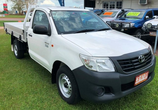 Used Toyota Hilux TGN16R MY14 Workmate 4x2, 2015 Toyota Hilux TGN16R MY14 Workmate 4x2 White 5 Speed Manual Cab Chassis