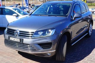 2016 Volkswagen Touareg 7P MY16 V6 TDI Tiptronic 4MOTION Grey 8 Speed Sports Automatic Wagon.