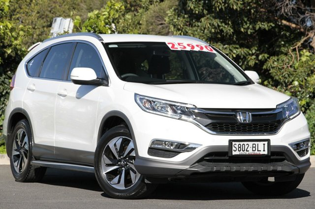 Used Honda CR-V RM Series II MY17 Limited Edition 4WD, 2016 Honda CR-V RM Series II MY17 Limited Edition 4WD White Orchid 5 Speed Sports Automatic Wagon