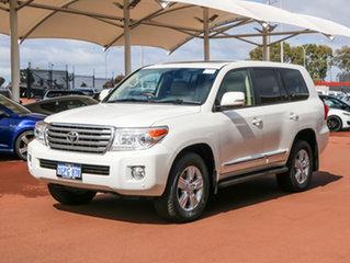 2012 Toyota Landcruiser VDJ200R MY12 Sahara (4x4) White 6 Speed Automatic Wagon.