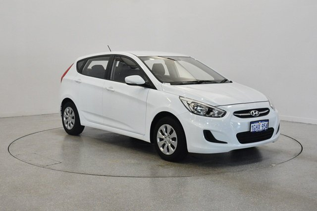 Used Hyundai Accent RB4 MY17 Active, 2017 Hyundai Accent RB4 MY17 Active Crystal White 6 Speed Constant Variable Hatchback