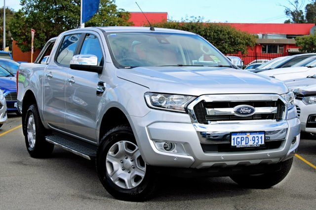 Demo Ford Ranger PX MkII MY18 XLT Double Cab, 2018 Ford Ranger PX MkII MY18 XLT Double Cab Silver 6 Speed Sports Automatic Utility