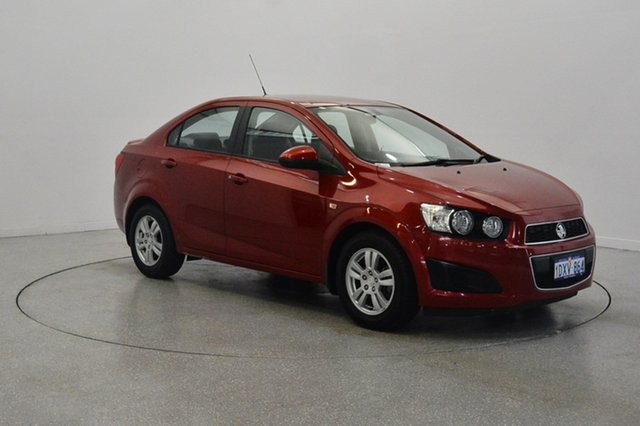 Used Holden Barina TM MY13 CD, 2012 Holden Barina TM MY13 CD Red 6 Speed Automatic Sedan