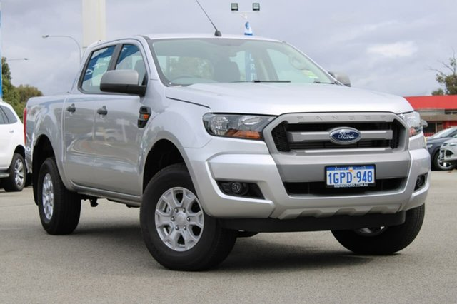 Demo Ford Ranger PX MkII MY18 XLS Double Cab, 2018 Ford Ranger PX MkII MY18 XLS Double Cab Silver 6 Speed Manual Utility
