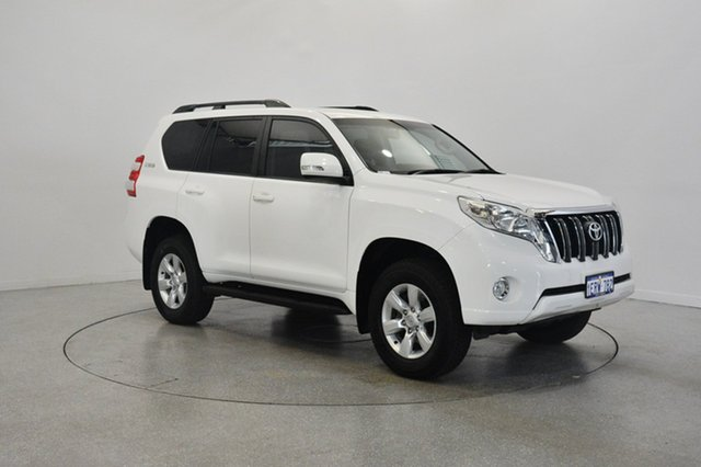 Used Toyota Landcruiser Prado GRJ150R MY14 GXL, 2015 Toyota Landcruiser Prado GRJ150R MY14 GXL White 5 Speed Sports Automatic Wagon