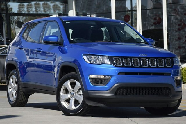 New Jeep Compass M6 MY18 Sport FWD, 2018 Jeep Compass M6 MY18 Sport FWD Hydro Blue Pearl 6 Speed Automatic Wagon