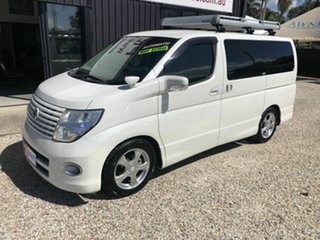 2007 Nissan Elgrand E51 Highway Star White 5 Speed Automatic Wagon.