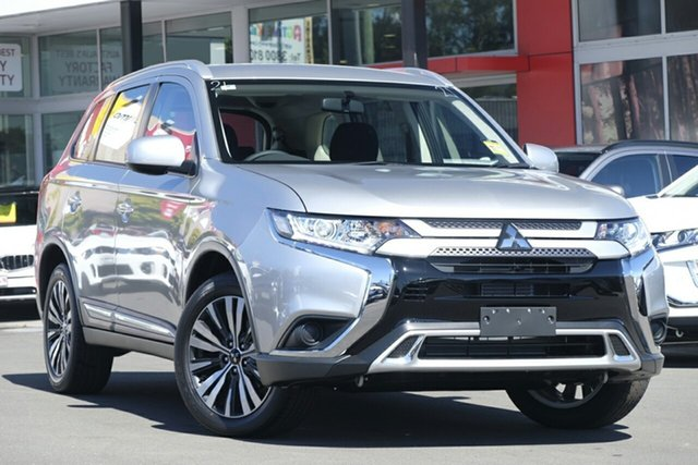 New Mitsubishi Outlander ZL MY19 ES 7 Seat (2WD), 2019 Mitsubishi Outlander ZL MY19 ES 7 Seat (2WD) Sterling Silver Continuous Variable Wagon