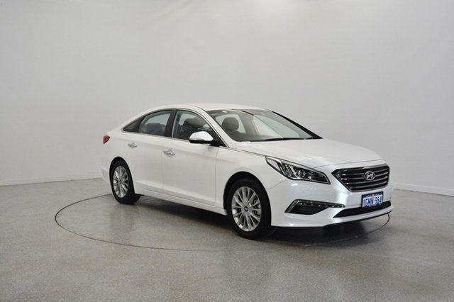 Used Hyundai Sonata LF Elite, 2015 Hyundai Sonata LF Elite White 6 Speed Sports Automatic Sedan