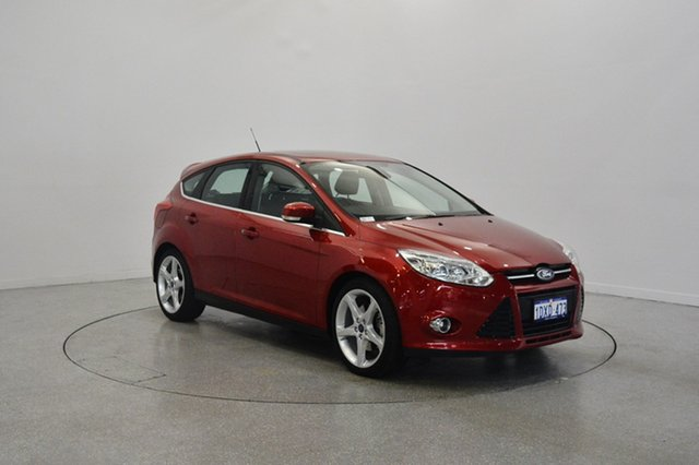 Used Ford Focus LW MKII Titanium PwrShift, 2012 Ford Focus LW MKII Titanium PwrShift Red Candy 6 Speed Sports Automatic Dual Clutch Hatchback