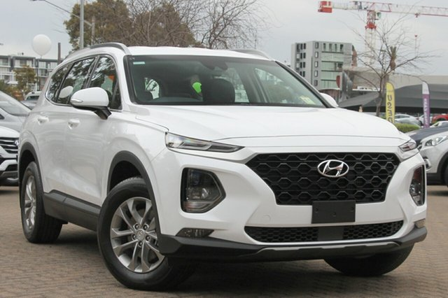 New Hyundai Santa Fe TM MY19 Active, 2018 Hyundai Santa Fe TM MY19 Active White Cream 8 Speed Sports Automatic Wagon