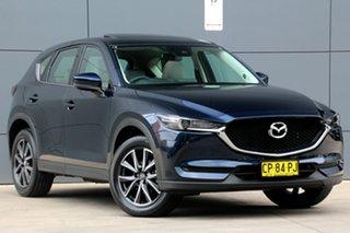 2017 Mazda CX-5 KF4WLA GT SKYACTIV-Drive i-ACTIV AWD Blue 6 Speed Sports Automatic Wagon.